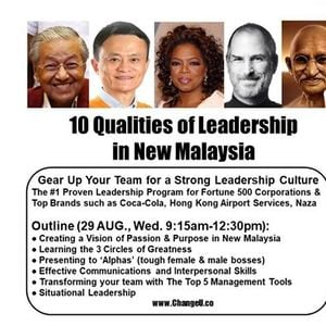 10 Qualities of Leadership in New Malaysia 29 Aug.