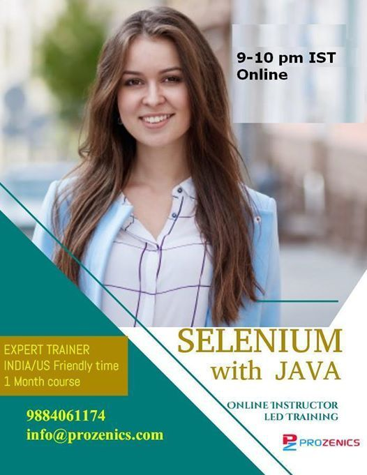 Selenium with Java (Online Batch 40 Hours)
