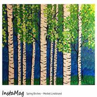 Bobblehead Pub Spring Birches Painting Event
