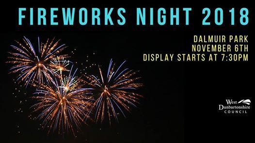 Fireworks Night Dalmuir Park At West Dunbartonshire Councilcouncil