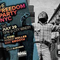 Freedom Party NYC City Winery JUL 29