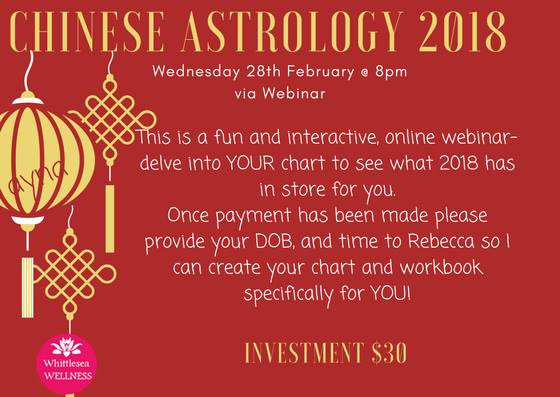 Decode Your Own Chinese Astrology Chart At Whittlesea Wellness