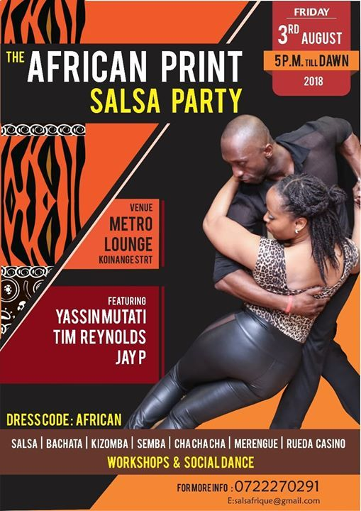 African Print Salsa Party