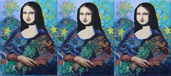 Paint & Stencil - Mona Lisa