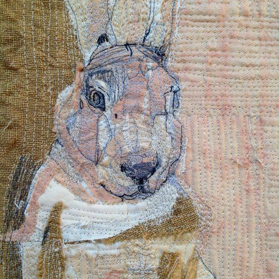 Rabbits Hares Freehand Machine Embroidery Workshop At Flowerfield