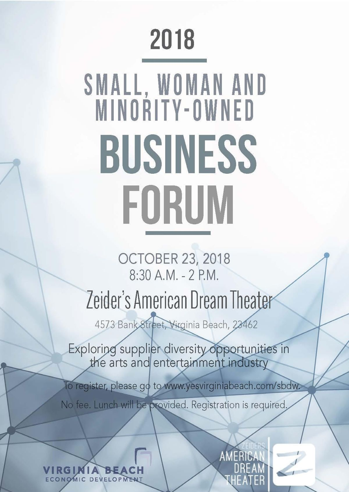 SWaM Business Forum at Zeiders American Dream Theater