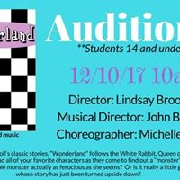 Auditions Wonderland- a new musical