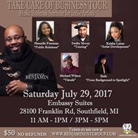 Take Care of Business Tour - Music Seminar for Indie Artists