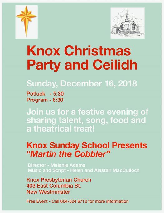 "Presenting ""Martin the Cobbler"" at Knox Presbyterian Church of New ..."