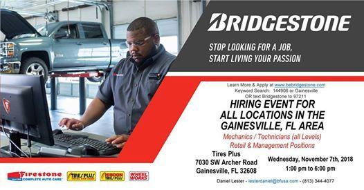 Gainesville Fl Hiring Event 11072018 At Tires Plus Florida