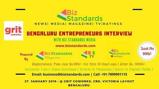 Bengaluru Entrepreneurs Interview With BS Business Media