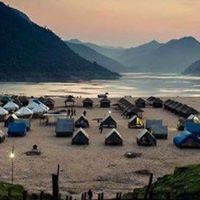 Boat ride to Papikondalu and Night stay in bamboo huts