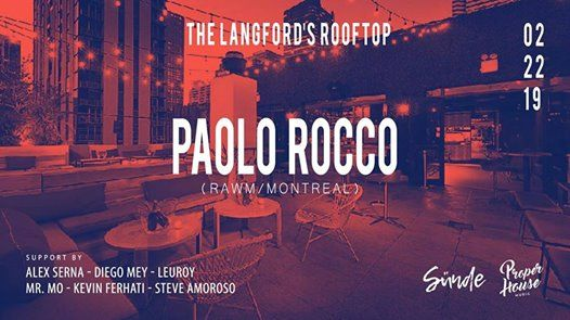 Paolo Rocco (RawMomentsMontreal) at The Langford Hotel Rooftop