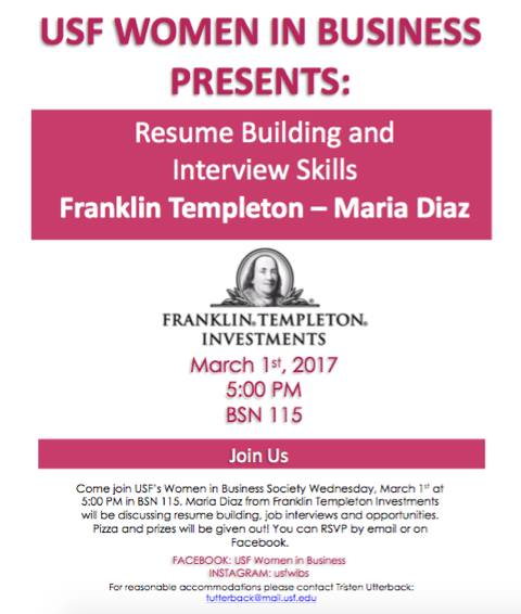 Franklin Templeton- Resume Building & Interview Skills at University ...