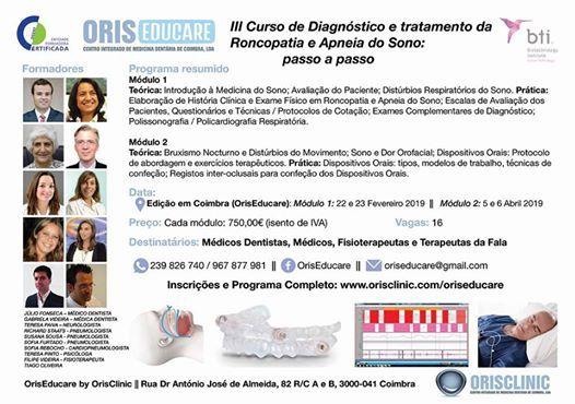 Curso de Diagnstico e Tratamento da Roncopatia e Apneia do Sono