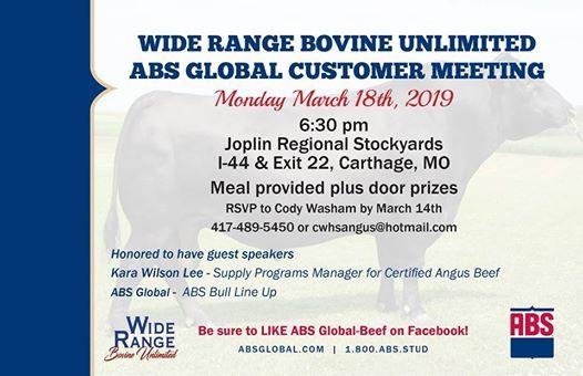 Wide Range Bovine Unlimited ABS Spring Customer Meeting at