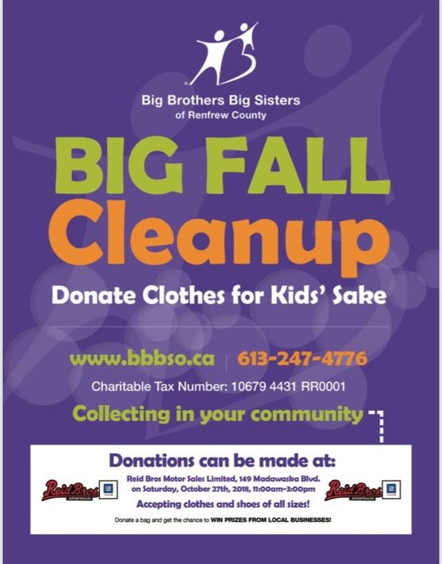 Big Fall Cleanup Arnprior Clothing Drive