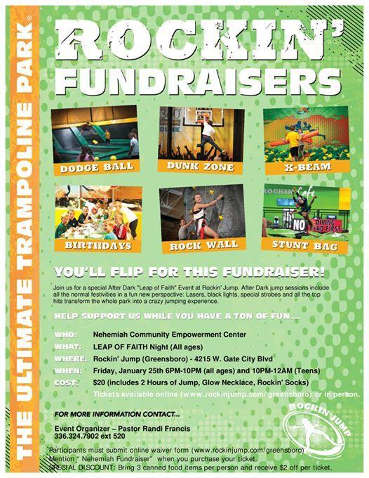 Leap Of Faith Fundraiser At Rockin Jump Greensboro