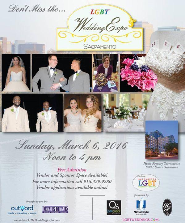 Sacramento lgbt wedding expo at hyatt regency sacramento for Wedding expo az