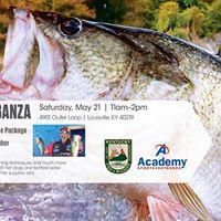 Fishing extravaganza at academy sports outdoors louisville for Academy sports fishing