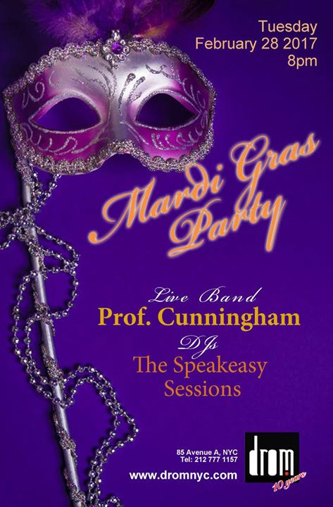 Image result for drom nyc mardi gras party