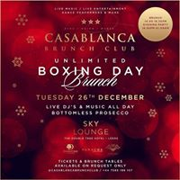 Casablanca Brunch Club - Bottomless Boxing Day Brunch SkyLounge