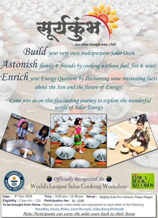 Suryakumbh - Solar Cooking Workshop for Childeren