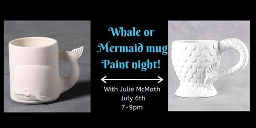 Whale or mermaid mug paint night
