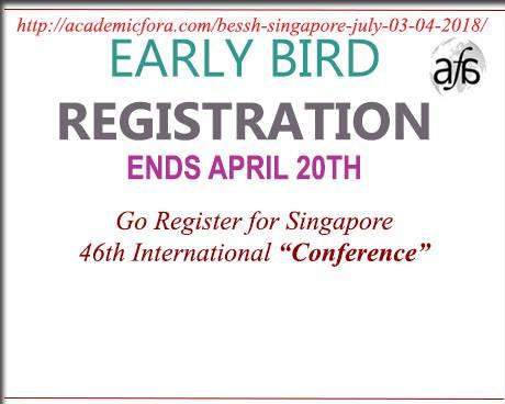 Singapore 46th International Conference onBESSH-2018