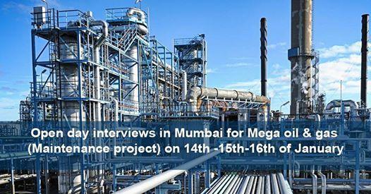 Open day interviews in Mumbai for Mega oil & gas