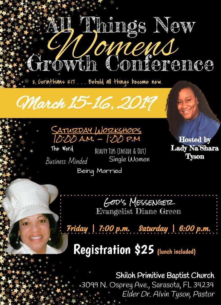 All Things New Womens Growth Conference at Shiloh P B