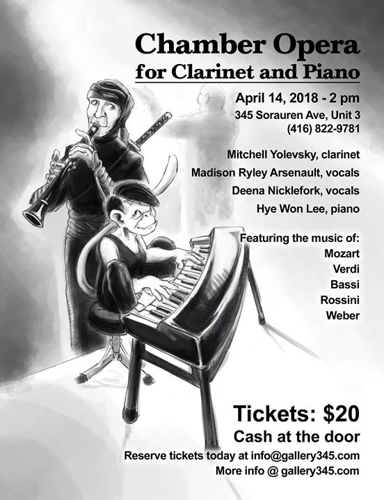 Chamber Opera For Clarinet And Piano At Gallery 345 Toronto