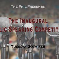 The Inaugural Public Speaking Competition