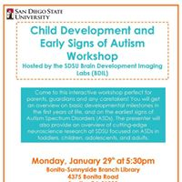 Child Development and Early Signs of Autism Workshop