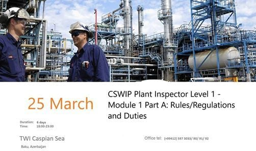 CSWIP Plant Inspector Level 1 - Module 1 Part A