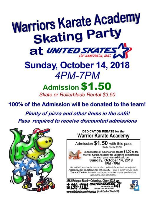 Warriors Skating 1 50 Admission At United Skates Of America