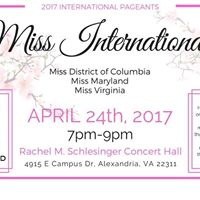 Miss International Pageants for DC Maryland and Virginia