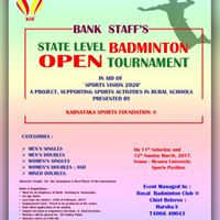 Open Badminton Tournament for Bank Employees