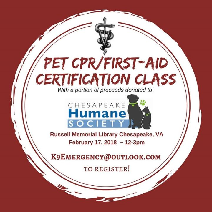 Pet Cprfirst Aid Certification Class At Russell Memorial Library