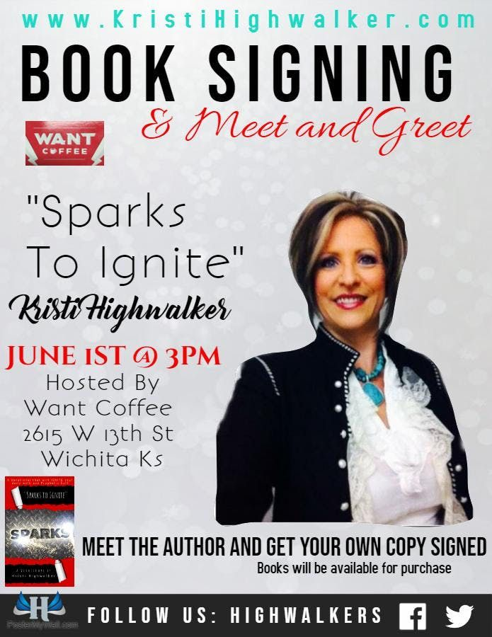 Book Signing at Want Coffee, Wichita
