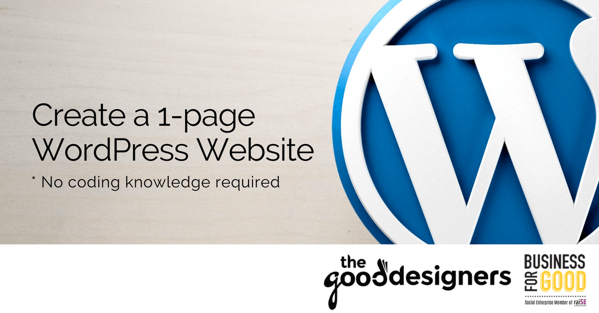 Create a 1-page WordPress Website in a day