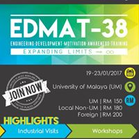 EDMAT-38 (ENGINEERING DEVELOPMENT MOTIVATION AWARENESS TRAINING-38)