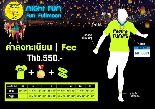 Night Run Fun Fullmoon 2018