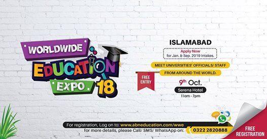 Worldwide Education Expo Oct 2018 Islamabad