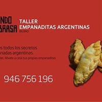 Taller empanaditas argentinas en Dando la brasa Bilbao