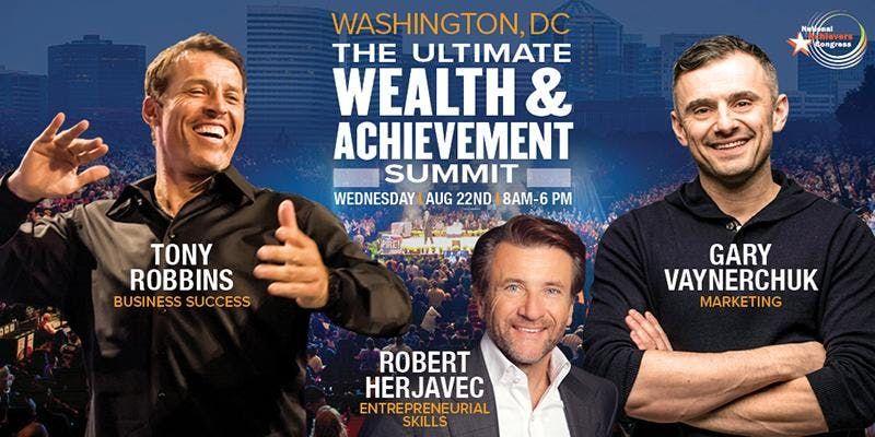 Tony Robbins and Gary Vaynerchuk Live Washington D.C.