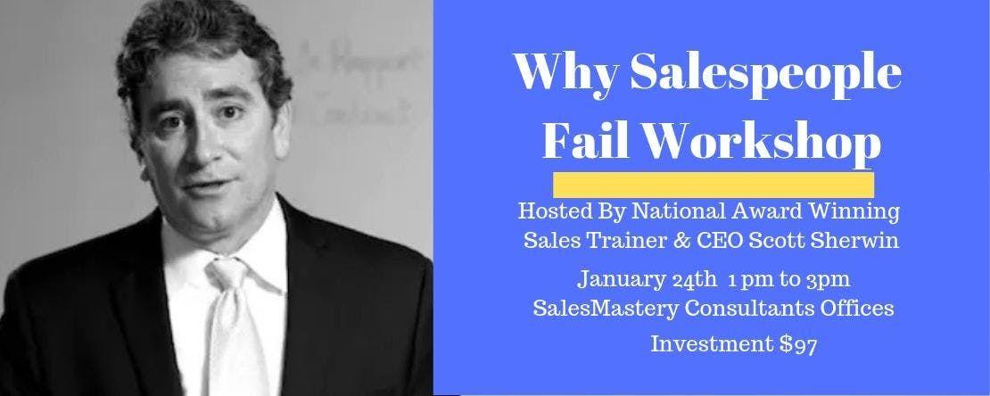 Why Sales People Fail Workshop