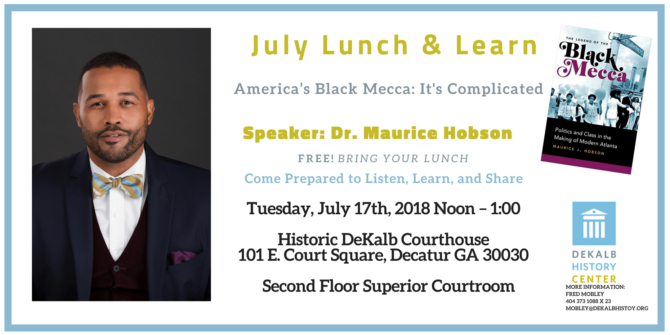 The Black Mecca: It's Complicated Lunch & Learn with Dr. Hobson