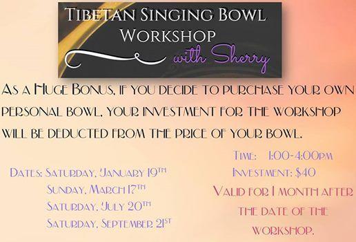 Tibetan Singing Bowl Workshop with Sherry