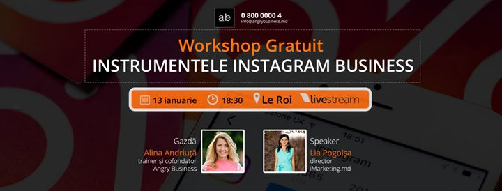 Workshop Gratuit Instrumentele Instagram Business